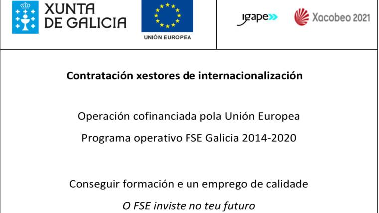 Contratación gestores de internacionalización
