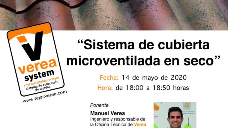 """Webinar """"Verea System: sistema de cubierta microventilada en seco"""""""