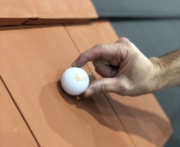 Verea roof tiles pass the resistance test to hail impact in the United States